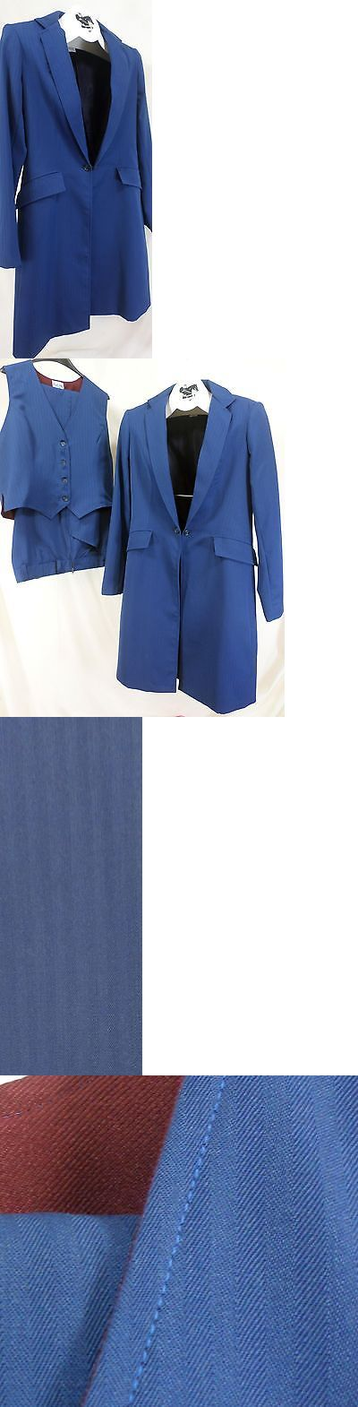 Other English Tack 3155: Reed Hill Saddleseat Ld 3P Suit Bright Navy Tone On Tone Poly Size 12 - Usa -> BUY IT NOW ONLY: $500 on eBay!
