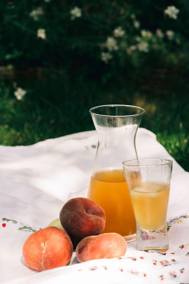 Recette : un thé glacé aux pêches de vigne – Ice Tea maison !