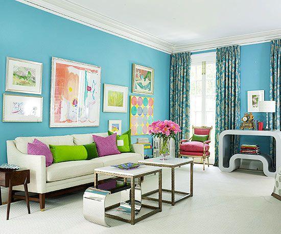 Blue Color Schemes Aqua Living RoomsLiving Room ColorsLiving