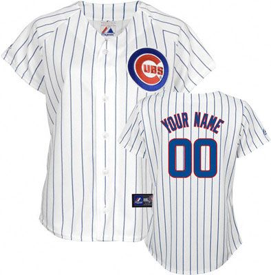 cubs apparel for women   Chicago Cubs -Personalized with Your Name- Women's MLB Replica Jersey