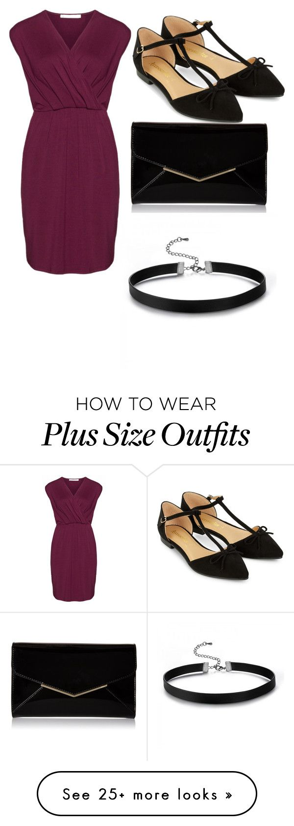 """plus sizes dress"" by hadoola-alzeyoudi on Polyvore featuring Studio, Accessorize and Furla"