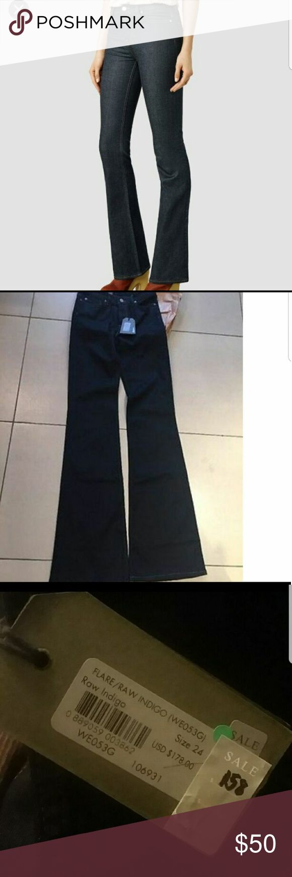 NWT ALLSAINTS flare/bootcut high waisted jeans 24 Beautiful ALLSAINTS jeans in raw indigo. Such a stunning find, get on trend with these! allsaints Pants Boot Cut & Flare