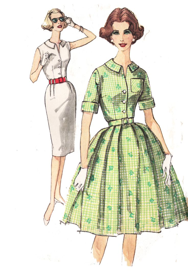 Simplicity 3486 Misses' Vintage 1960s Shirtdress Sewing Pattern by DRCRosePatterns on Etsy