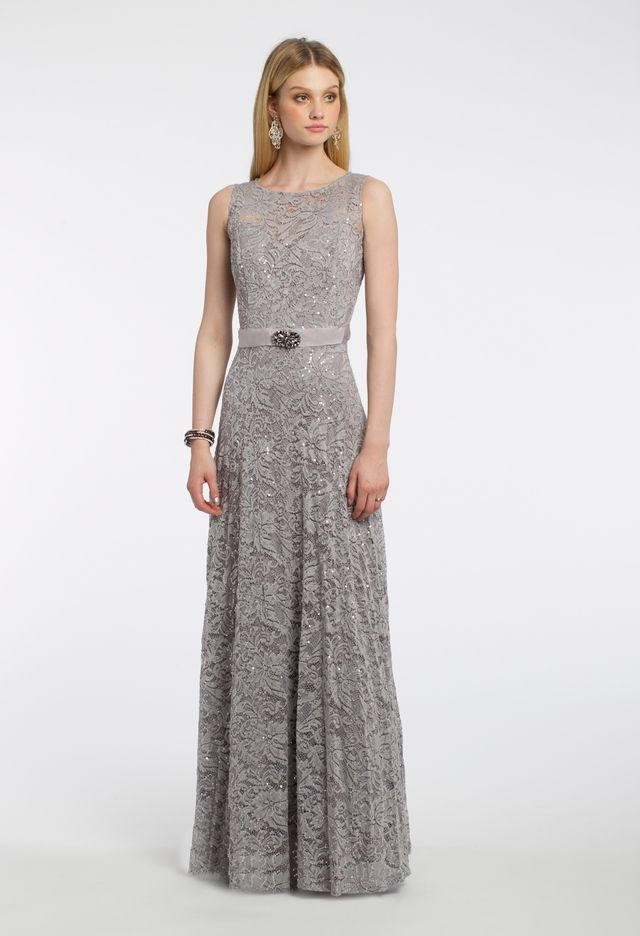 Sequin Lace with Beaded Trim and Full Skirt Dress from Camille La Vie