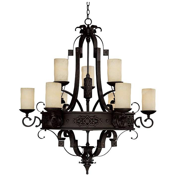 Capital River Crest Rustic Iron 9-Light Chandelier - #06989 | Lamps Plus