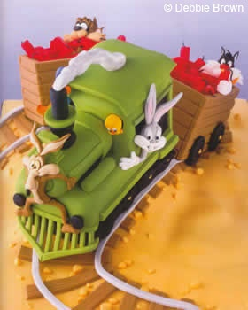 Disney Cartoon Cake (Wile E Coyote, Tweetie, Sylvester, Buggs Bunny, Tasmanian Devil)