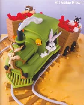 Disney Cartoon Cake (Wile E Coyote, Tweetie, Sylvester, Buggs Bunny, Tasmanian Devil)