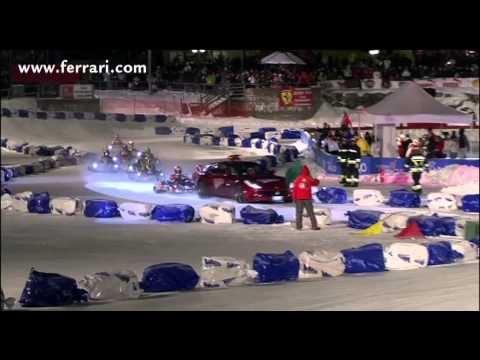 Un cielo illuminato dai fuochi d'artificio ha salutato la doppietta siglata da Fernando Alonso sul laghetto ghiacciato di Campiglio, teatro di un confronto in go-kart tra i piloti della Scuderia Ferrari e i colleghi del Ducati Team.      Follow us on Facebook http://www.facebook.com/Ferrari   and Twitter http://twitter.com/insideferrari  Ferrari Sinc...