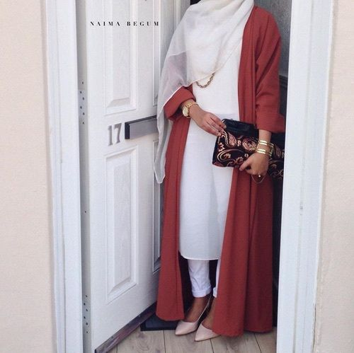 White and red. Looking classy ♡ #hijab