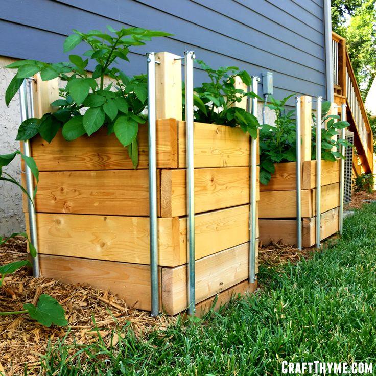 Walk In Garden Box: Short On Garden Space? Then A Potato Tower Or Potato Box