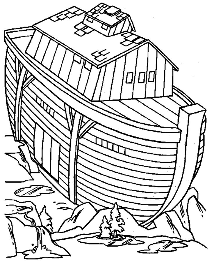 noah ark christian coloring pages