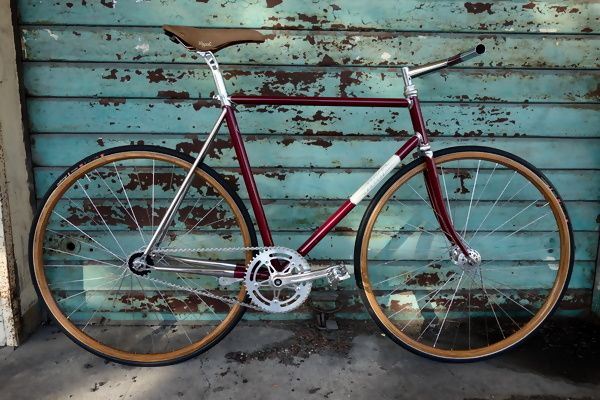 Fixed amaranto HBM Bike Factory - Arquata Scrivia (AL) Italy