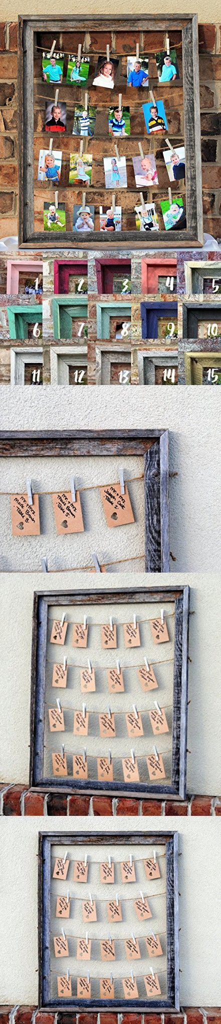 Multiple Picture Frame Barn Wood, Rustic Home Decor, Rustic Wedding Place card Holder, Rustic Wedding Decor, Gift for Grandpa, Mother's Day Gift for Grandma, Gift for Mom and Dad, Rustic Frame