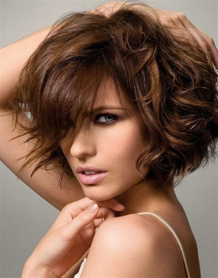 I love this brown! It's got a touch of cinnamon to it, without being overly warm. Cute cut with the curls that are in it!