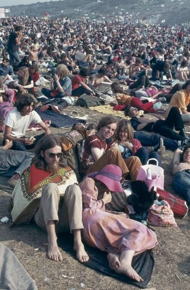 johnkatsmc5:Audience at The Isle of Wight Festival, 1970
