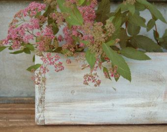 Rustic Planter rustic centerpiece distressed by myhydrangeahome