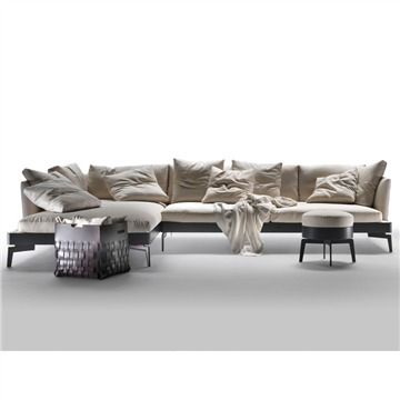 Flexform Feel Good Large Sectional Sofa - Style # 14Wxx, Leather Sectional Sofa & Contemporary Leather Sofa | SwitchModern