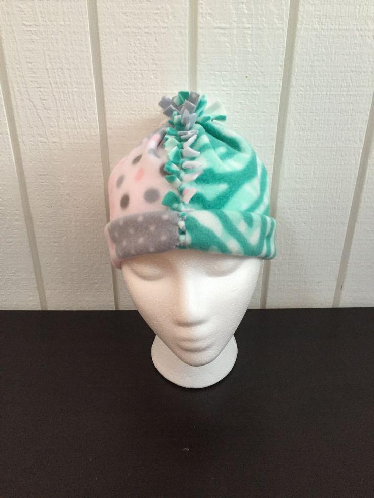 Girl's Fun Fleece Hat, Unique Kid's Winter Hat, Girl's Winter Hat, Kid's Fun Fleece Hat, Zebra Print Girl's Hat, Girl's Pom Pom Hat by KozyKiddies on Etsy