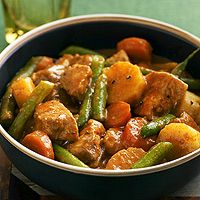 Pork Goulash in a slowcooker....Simmer pork and delicious fresh vegetables in a slow cooker to create this easy, healthy one-dish meal. The 15-minute prep time makes it a snap to whip up before you head off to work.