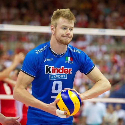 My favorite volleyball player.  The David Beckham of volleyball world.