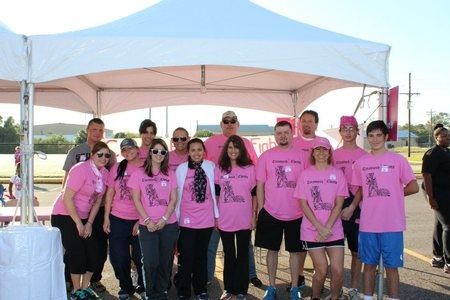 Picture of Treasured Chests Making Strides Against Breast Cancer Custom T-Shirt Design