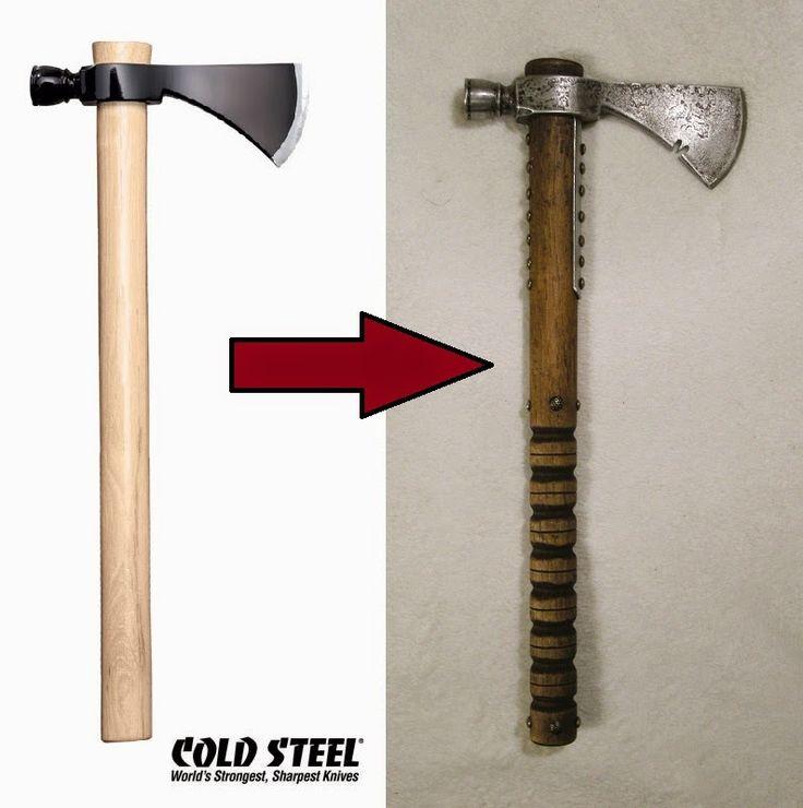 Mich hat die Idee einfach nicht losgelassen einen Tomahawk zu kaufen bzw. zu verzieren. Da kam mir ein Modell von Cold Steel genau r...