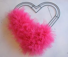 valentine's tulle wreath @Wendy White look at this website to see the final product!! So cute and is step-by-step!