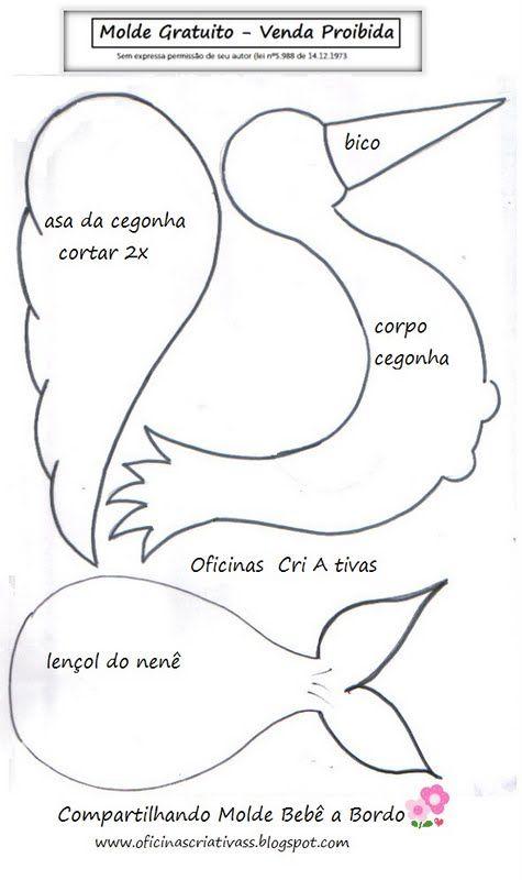 Molde para cartel de bienvenida al bebe - Foami / Goma Eva / Foamy -