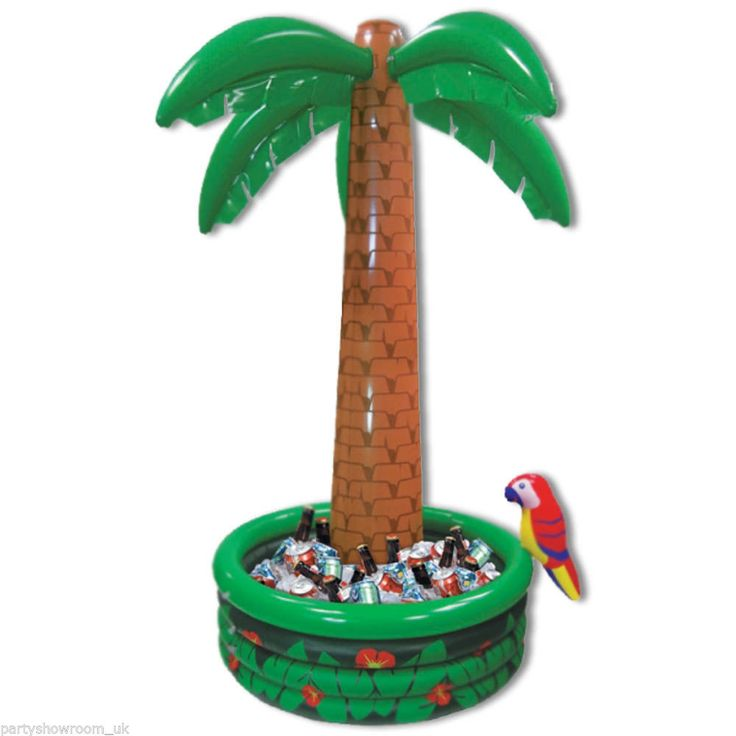 6ft Tropical Luau Hawaiian Party Jumbo Palm Tree Inflatable Drinks Cooler