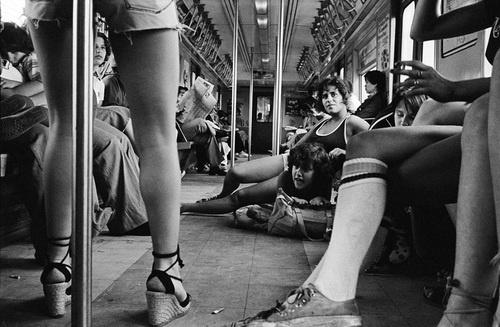 New York subway, 1978. Photo by Susan Meiselas. tube socks