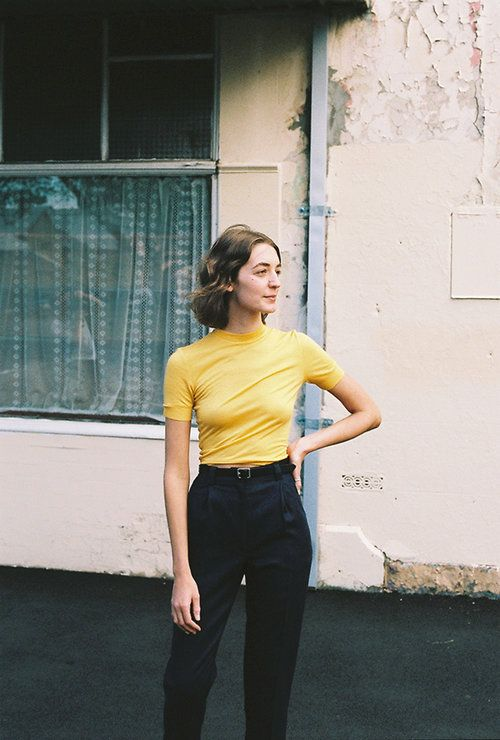 Yellow shirt, trousers