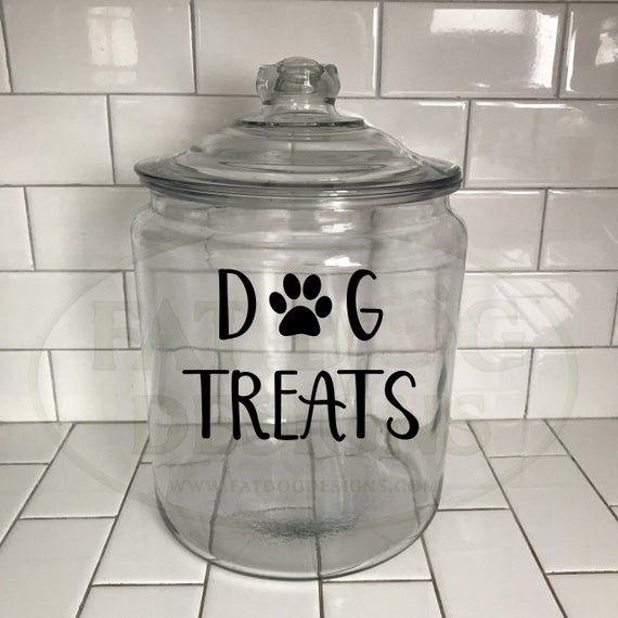 Dog Treat Jar Label Cat Treat Label Dog Cookie Jar Decal Cat Treat Decal Farmhouse Canister Decals Canister Label Kitchen Organization Treat Jars Dog Treat Jar Jar Labels