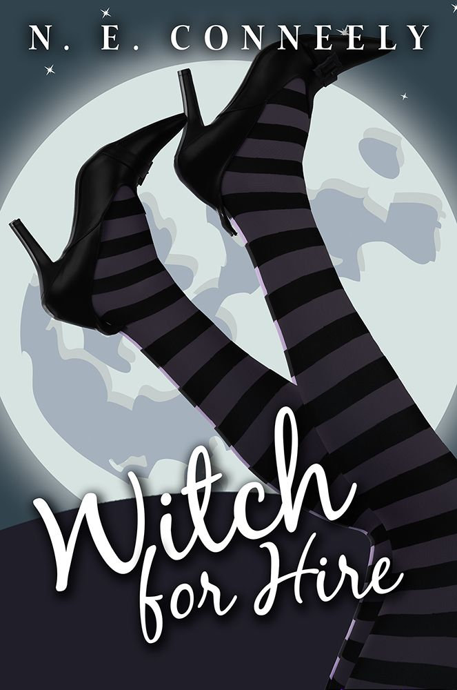 Witch for Hire (Witch's Path Series Book 1)  a fantasy novel by N. E. Conneely. Most witches don't work for police departments, but Michelle isn't your average witch. She's clanless, looking for a warlock who isn't offended by her lack of family connections, and in danger of losing her job if she can't find the eight escaped trolls before they start eating the local residents.