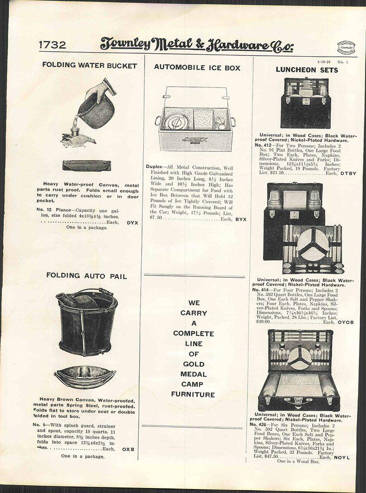 1924 AD Kampkook Camp Stoves Coleman Cooking Kits Automobile Car Picnic Kits