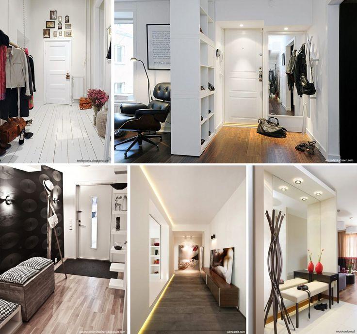 Amazing Foyer Love The Dark And White Wood Together: Aranżacje Przedsionków, Pufy!