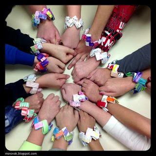 Organized Chaos: Origami Bracelets - 4th grade