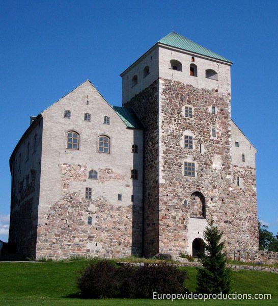 Mittelalterliche Burg von Turku in Finnland