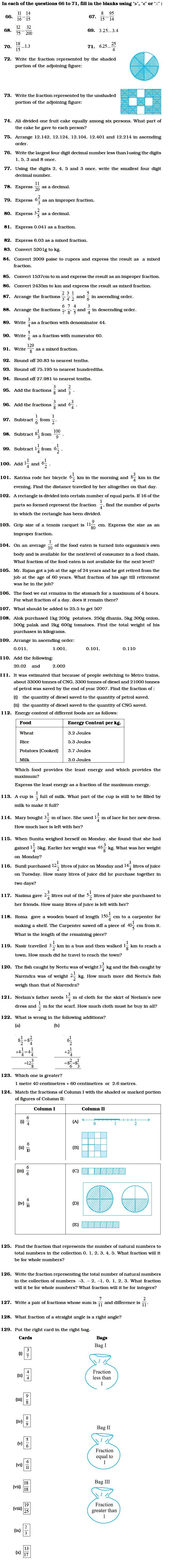 Class 6 Important Questions For Maths Fractions And Decimals Aglasem Schools Math Fractions Fractions Decimals Fractions [ 5856 x 655 Pixel ]