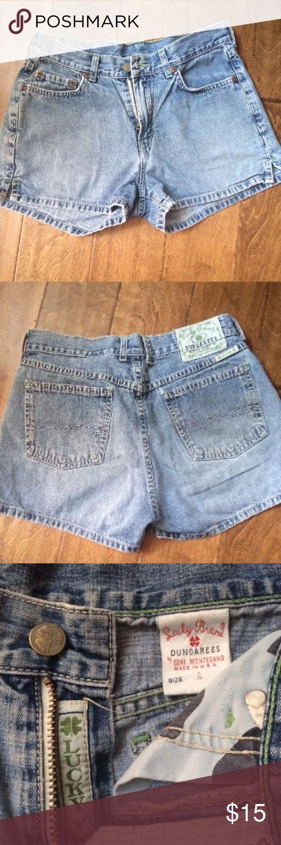"""LUCKY BRAND DUNGAREES High Waist SHORTS 8/29 LUCKY BRAND DUNGAREES High Waist WOMENS JEAN SHORTS Size 8/29 Actual 27"""" Waist Lucky Brand Shorts Jean Shorts"""