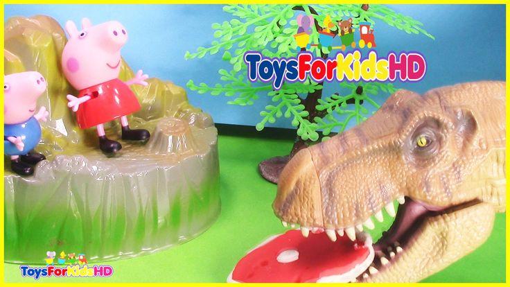 Peppa y George se van de Excavación en busca de Dinosaurios - Peppa pig ...