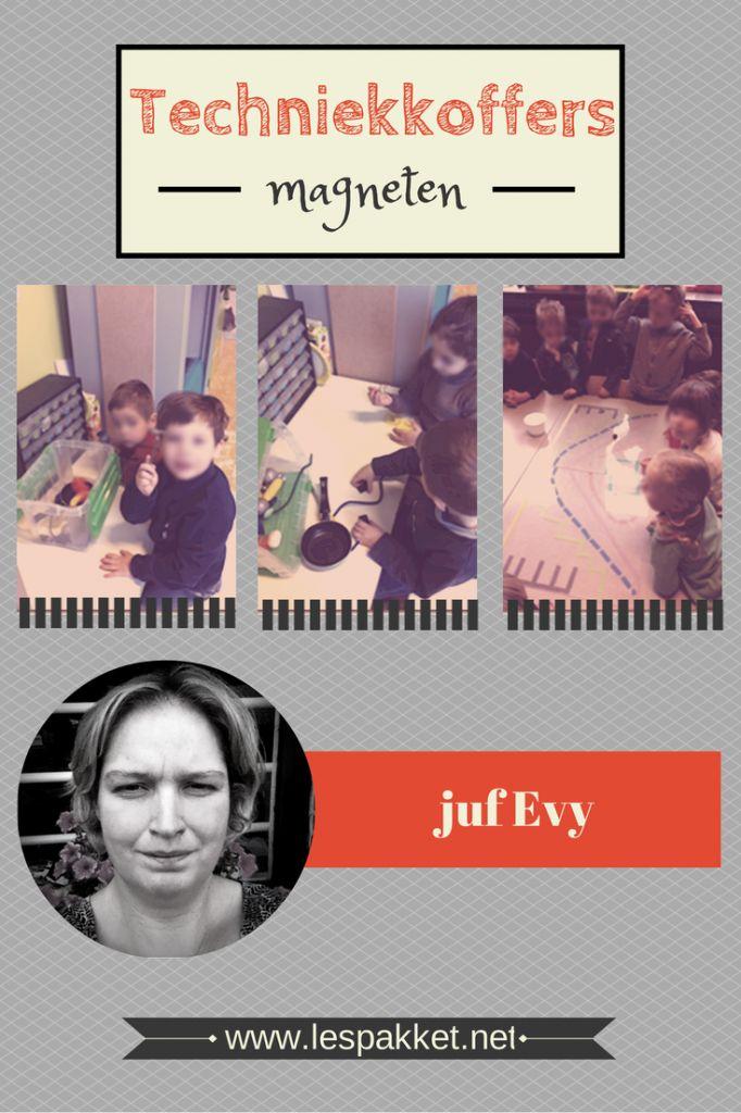 In deze serie over techniek met kleuters legt juf Evy uit hoe ze techniekkoffers gemaakt heeft. Deze techniekkoffer leert de kinderen alles over magneten. - Lespakket