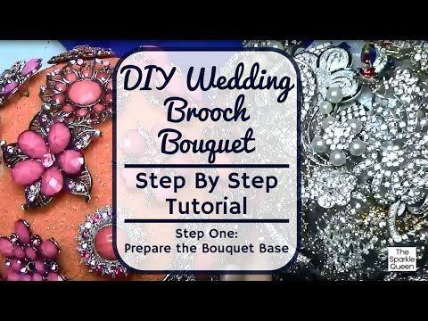 Step by Step Tutorial: Wedding Rhinestone Brooch Bouquet - Step 1 - Prepare the Base