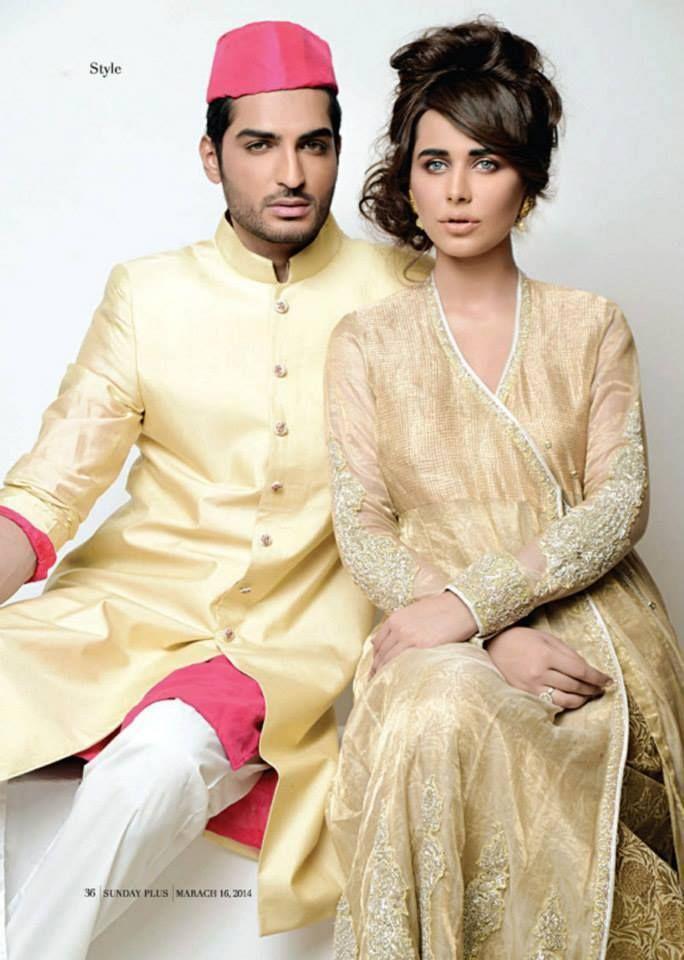 Excluise Libas For Boys & Girls Wedding by Nida Azwer 2014 (3)