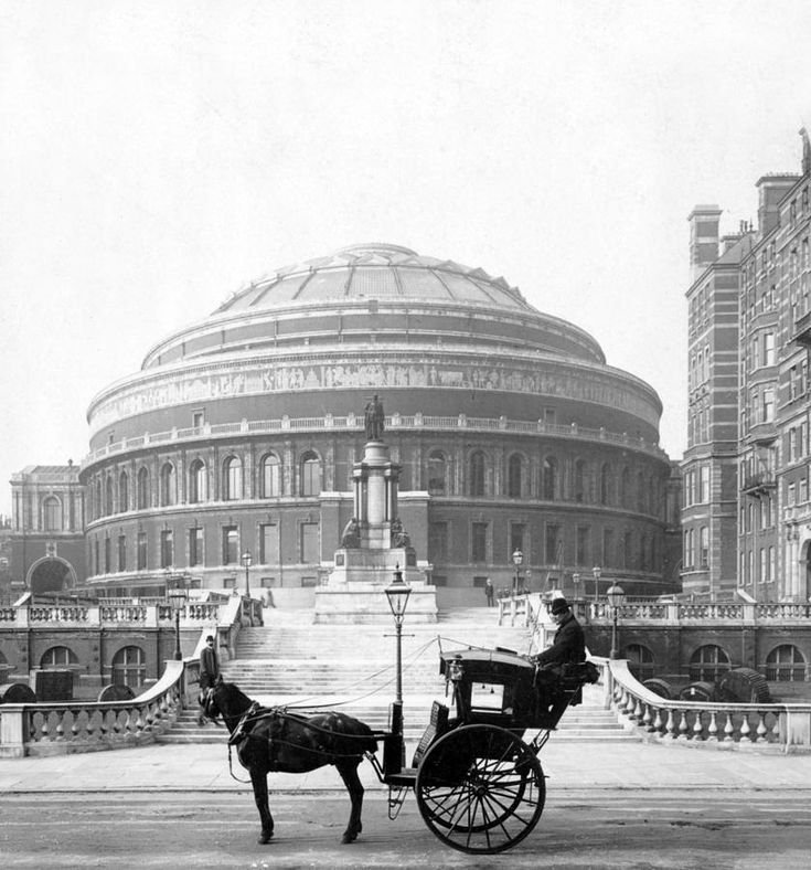 London an Old Taxi Cab in front of Royal Albert Hall - Bing Images