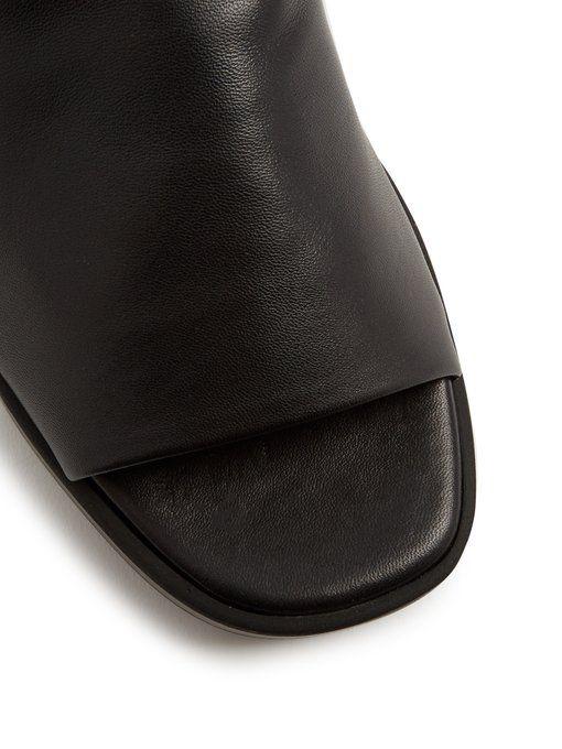 78d6db151d1 Clergerie Quenor leather platform slides