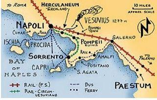 Naples, Sorrento, Capri, Positano, Amalpi, Paestum,  Cumae, Ishcia, Procida, Pompeii, Herculaneum