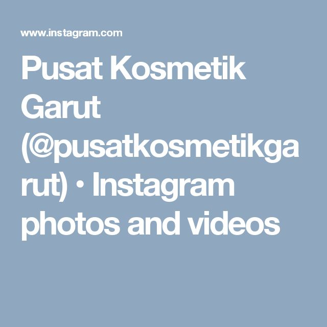 Pusat Kosmetik Garut (@pusatkosmetikgarut) • Instagram photos and videos