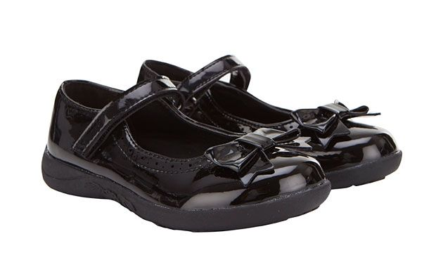 """Bow Patent Shoes. """"Shiny bows make these sweet patent shoes an ultra-cute choice."""""""