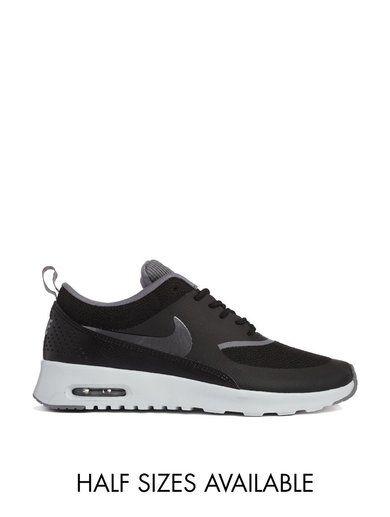 Nike Air Max Thea Black Trainers - Black