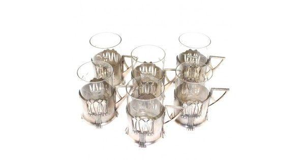 Serviciu de 6 pahare pentru ceai - Jugendstil - atelier WMF - 1906